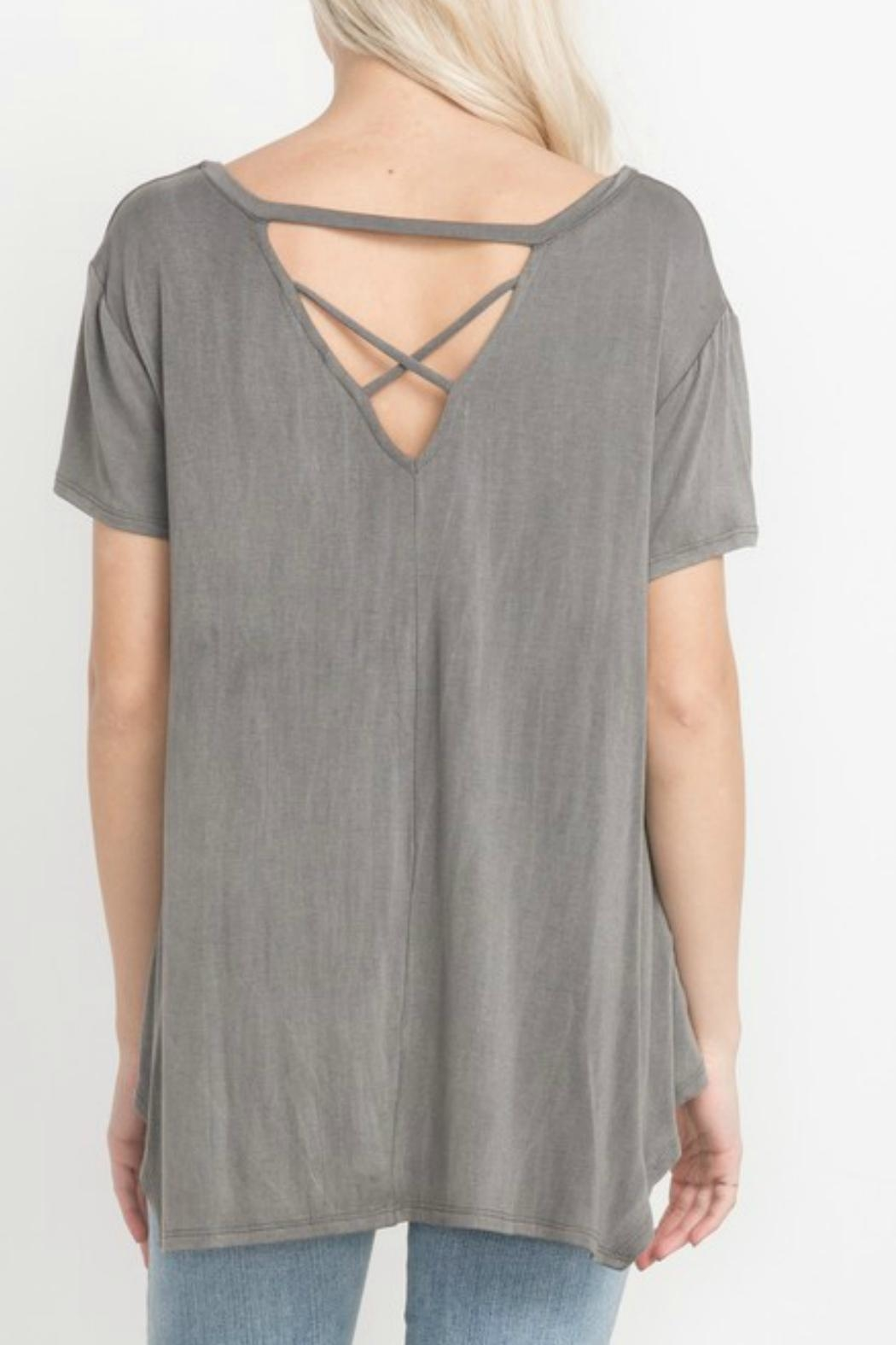Mittoshop Crisscross Back Top - Side Cropped Image