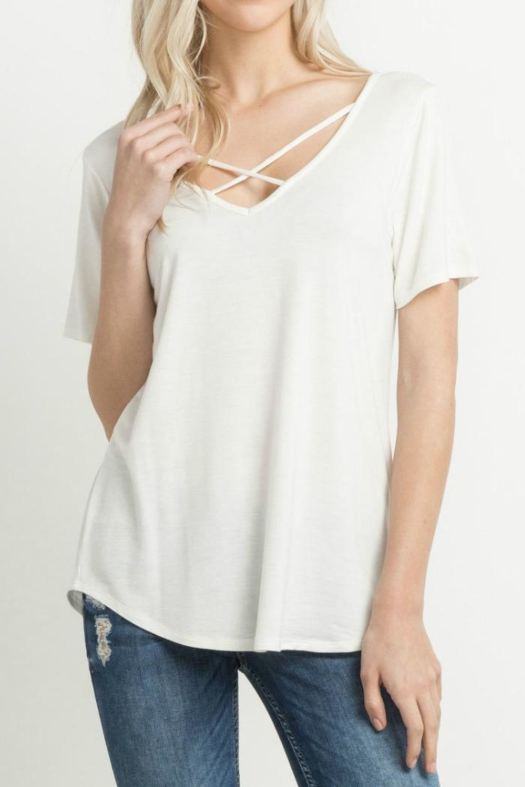Mittoshop Cross Front Shirt - Front Cropped Image