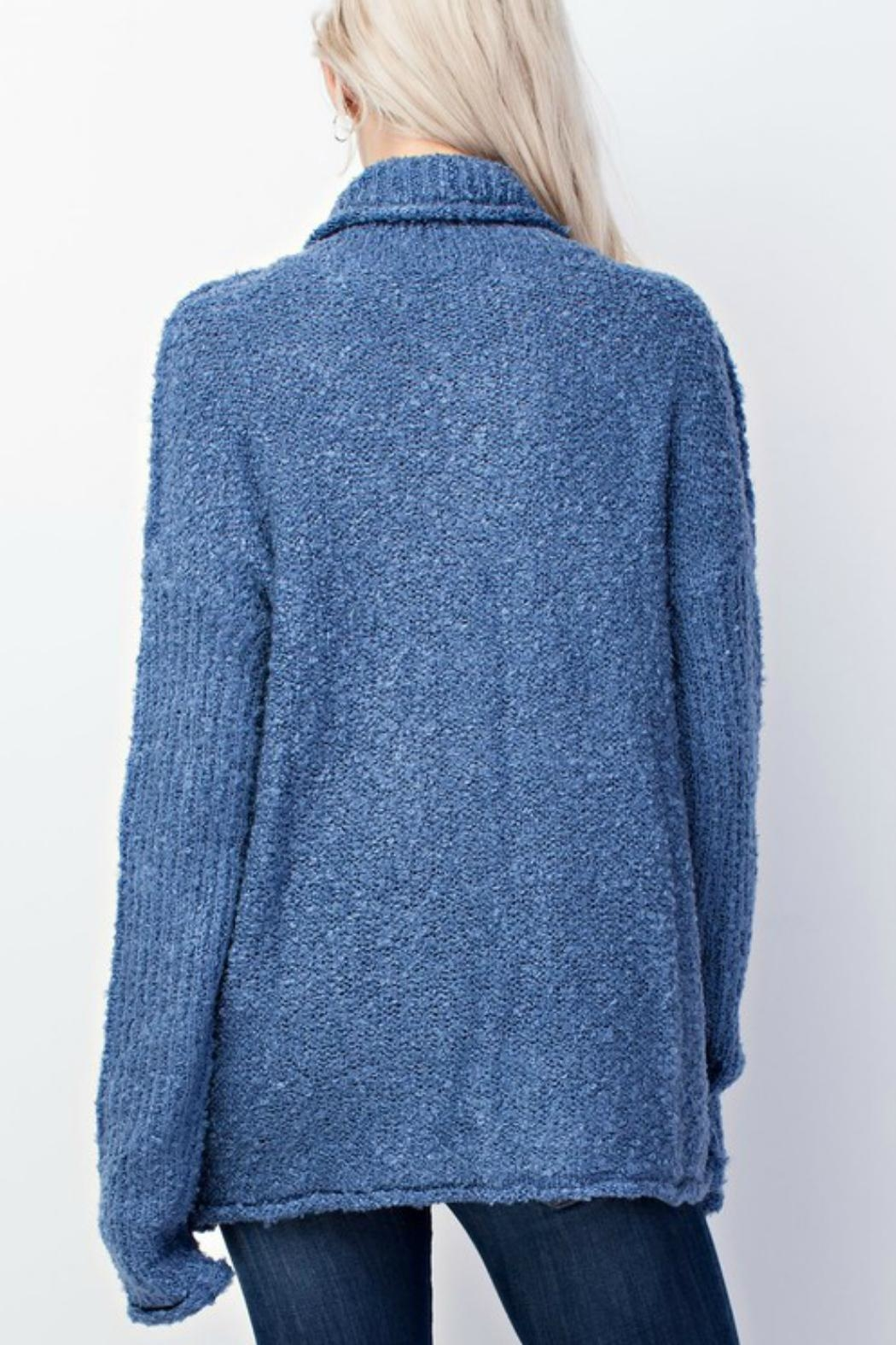Mittoshop Denim Blue Sweater - Front Full Image