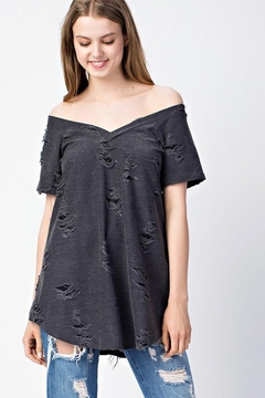 Mittoshop Distressed Knit Top - Product List Image