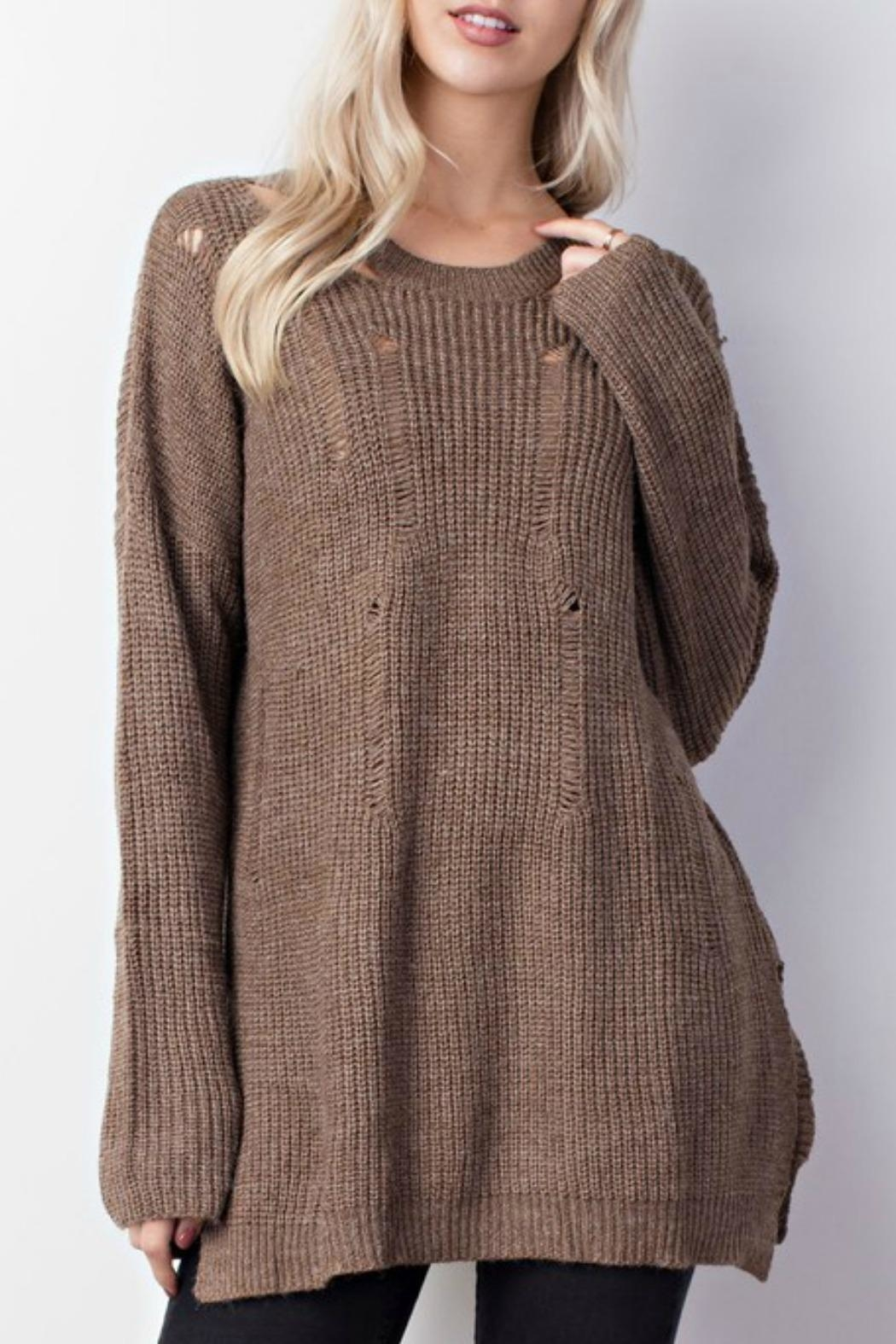 Mittoshop Distressed Oversized Sweater - Side Cropped Image