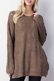 Mittoshop Distressed Oversized Sweater - Side cropped