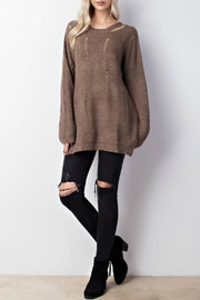 Mittoshop Distressed Oversized Sweater - Front cropped