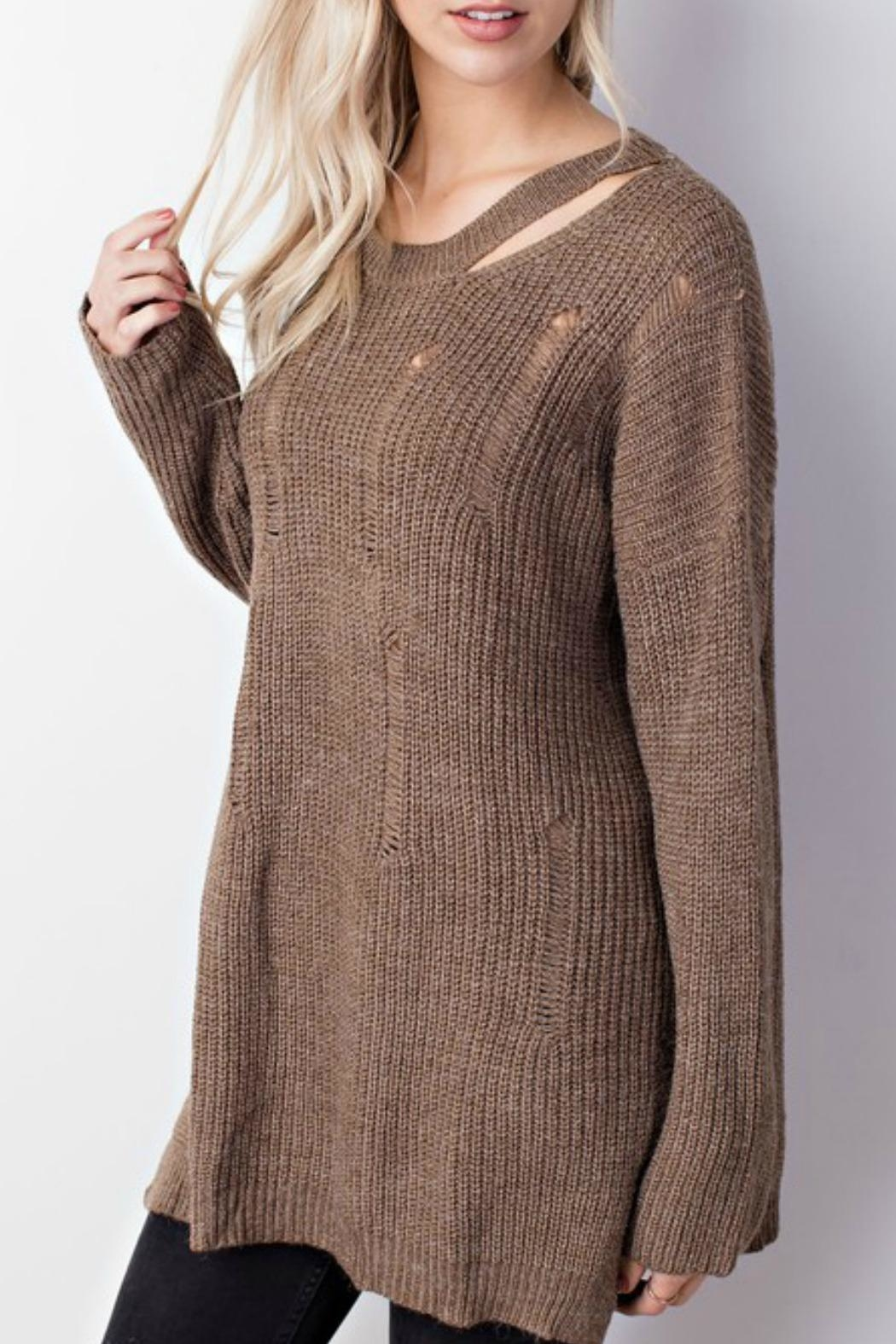 Mittoshop Distressed Oversized Sweater from Connecticut by Deja Vu ...