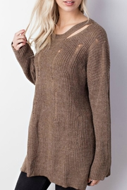 Mittoshop Distressed Oversized Sweater - Front full body