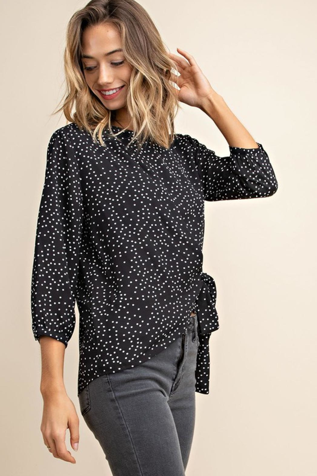 Mittoshop Dotted Blouse - Side Cropped Image