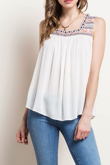 Mittoshop Embroidered Peasant Tank - Main Image