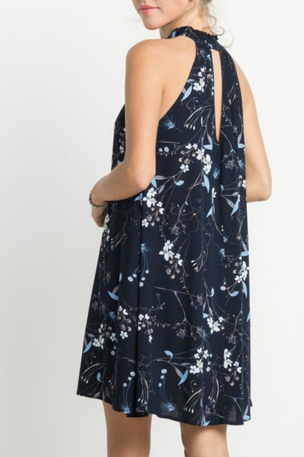Mittoshop Floral Halter Dress - Front Full Image
