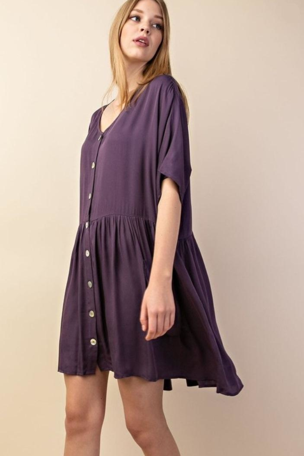 Mittoshop Flounce Dress - Side Cropped Image