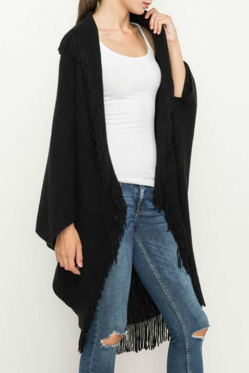 Mittoshop Fringed Cocoon Cardigan - Front Cropped Image