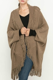 Mittoshop Fringed Cocoon Cardigan - Front full body
