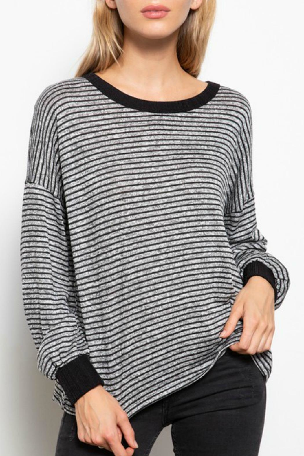 Mittoshop Georgie Striped Top - Front Full Image
