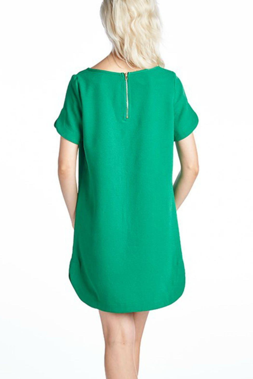 Mitto Green Shift Dress Front Full Image