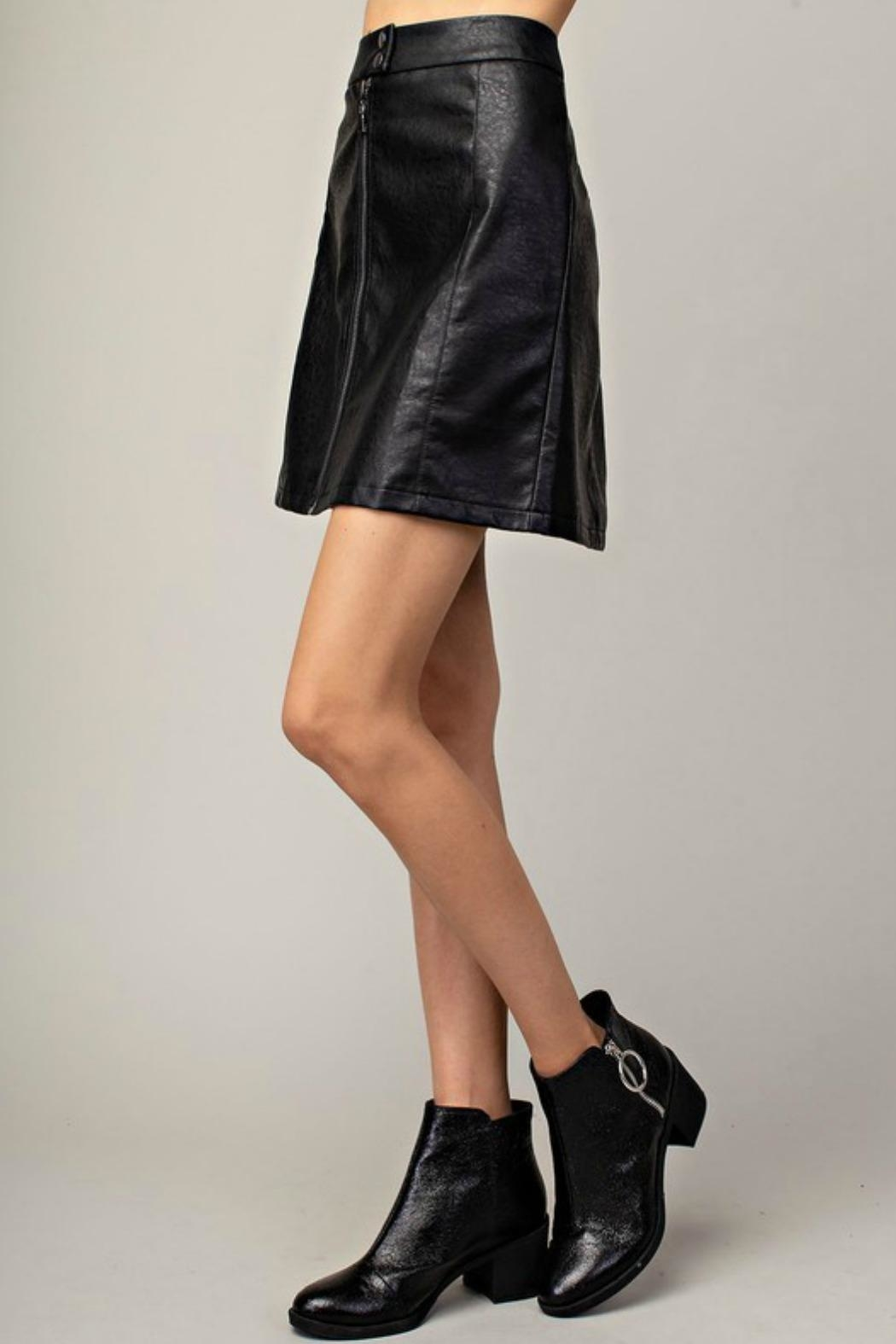 Mittoshop Hazel Faux-Leather Skirt - Front Full Image