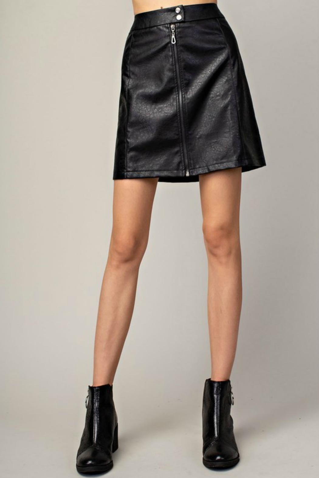 Mittoshop Hazel Faux-Leather Skirt - Front Cropped Image
