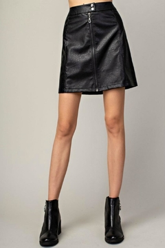 Mittoshop Hazel Faux-Leather Skirt - Product List Image