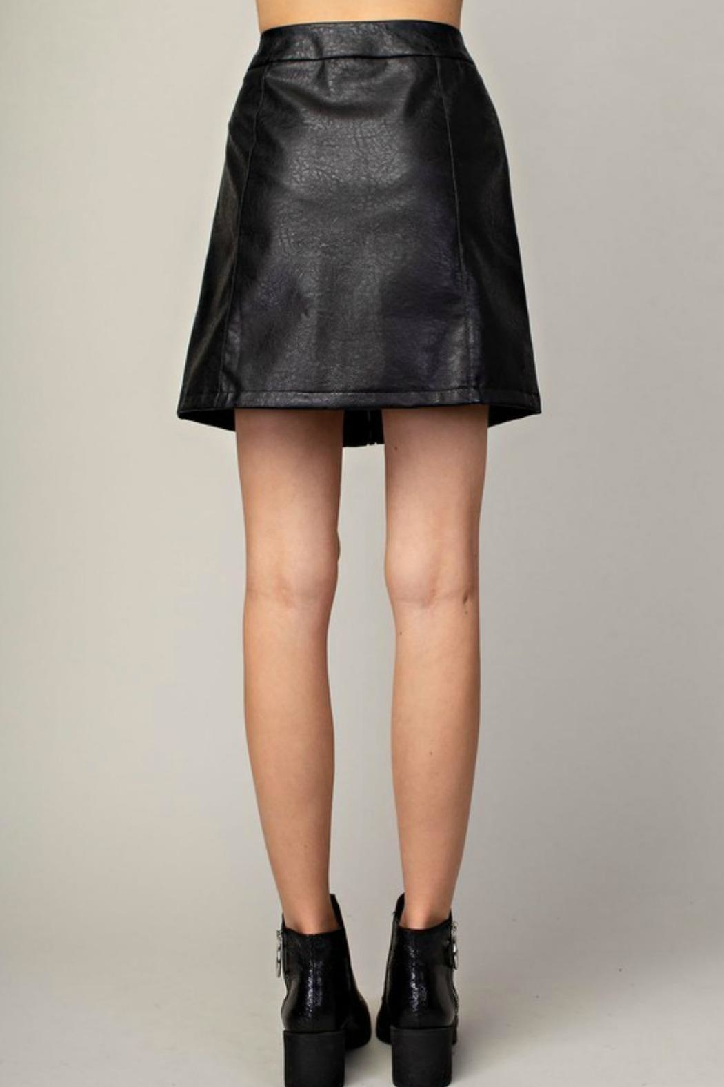 Mittoshop Hazel Faux-Leather Skirt - Side Cropped Image