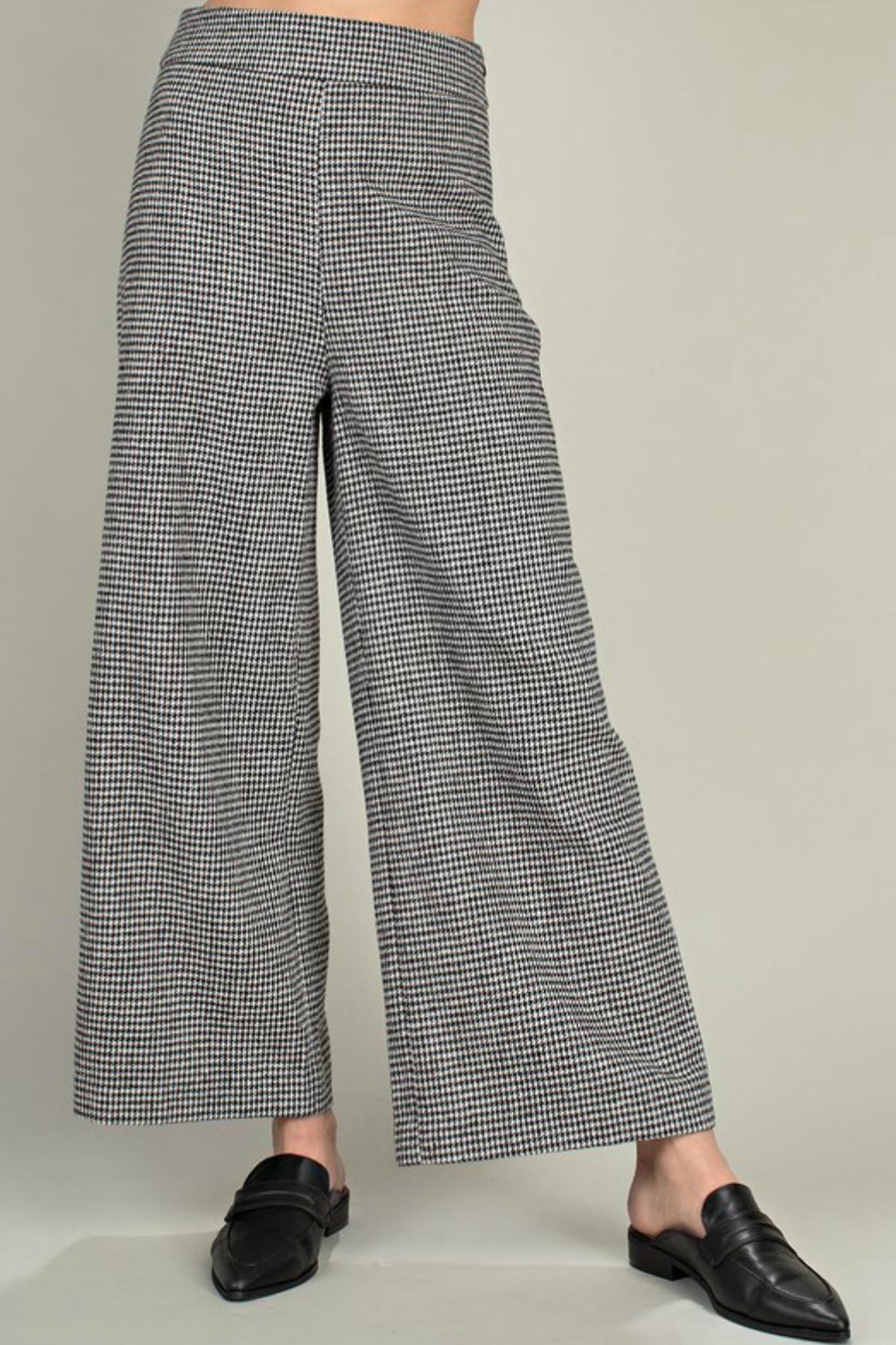 Mittoshop Houndstooth Wide-Leg Pant - Main Image