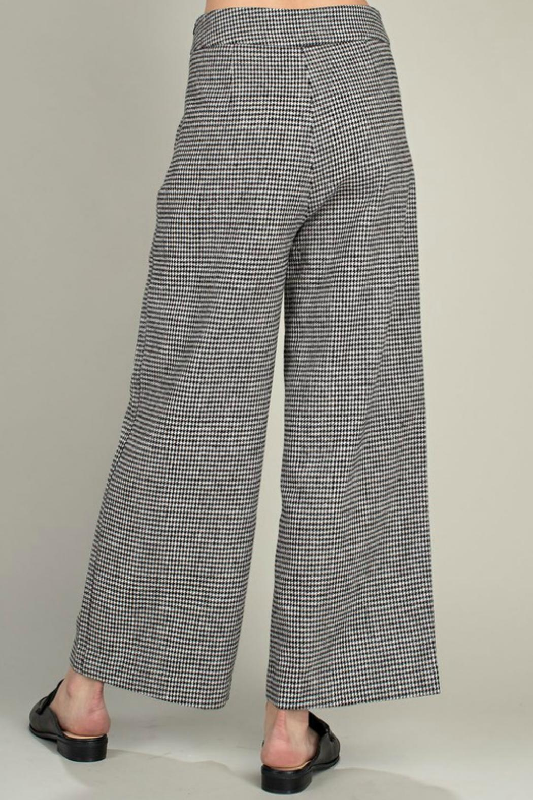Mittoshop Houndstooth Wide-Leg Pant - Front Full Image