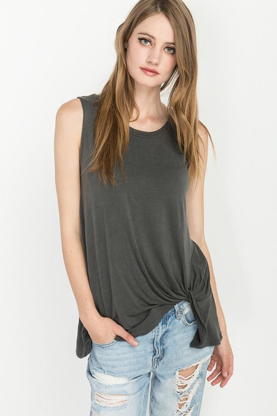 mittoshop knotted tank top from texas by divine designs