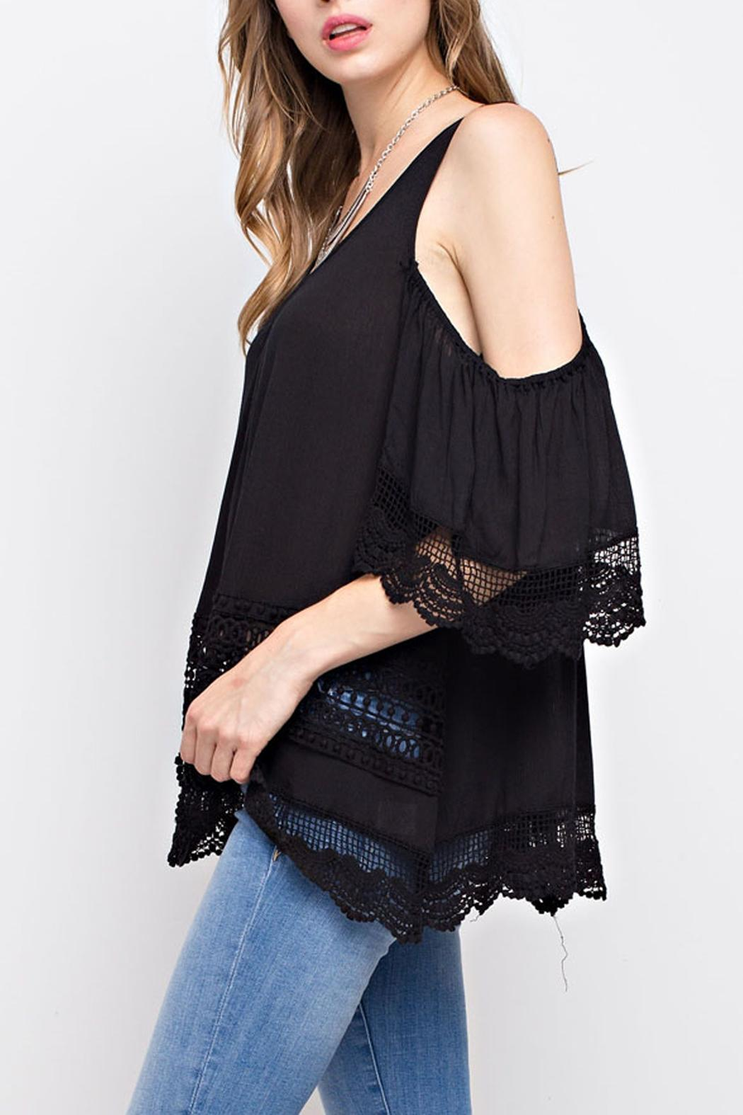 4463f1da3d7f68 Mittoshop Lace Cold-Shoulder Top from Texas by JChronicles — Shoptiques