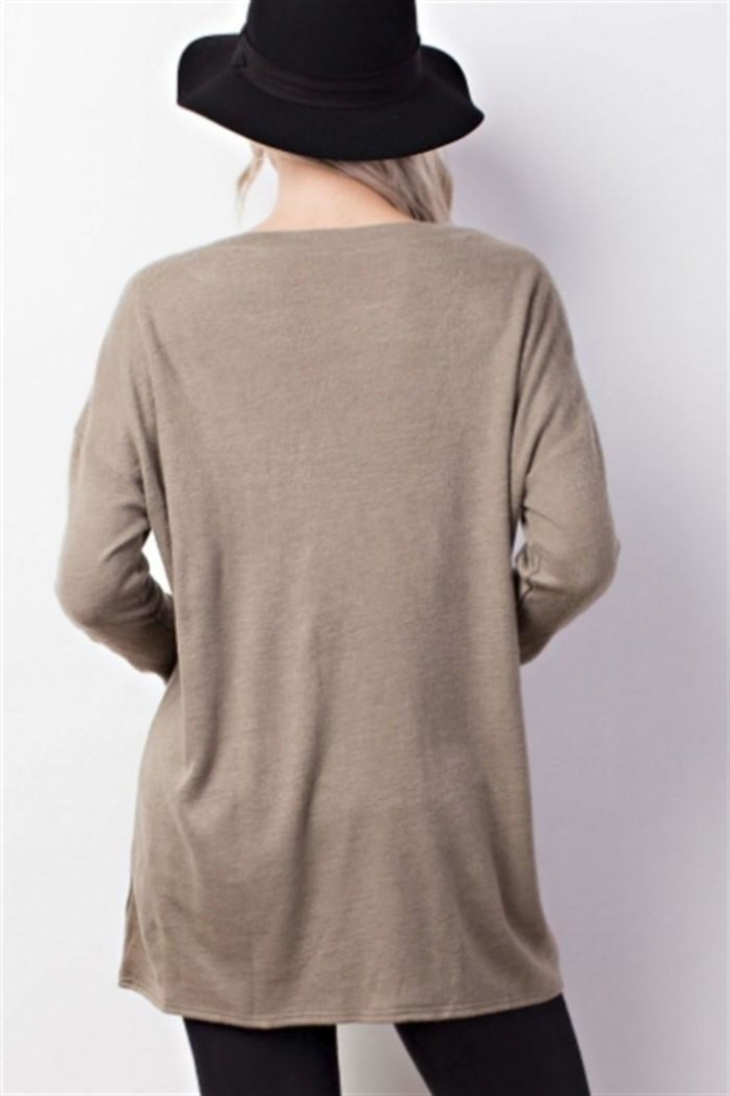 Mittoshop Lace Up Top - Front Full Image