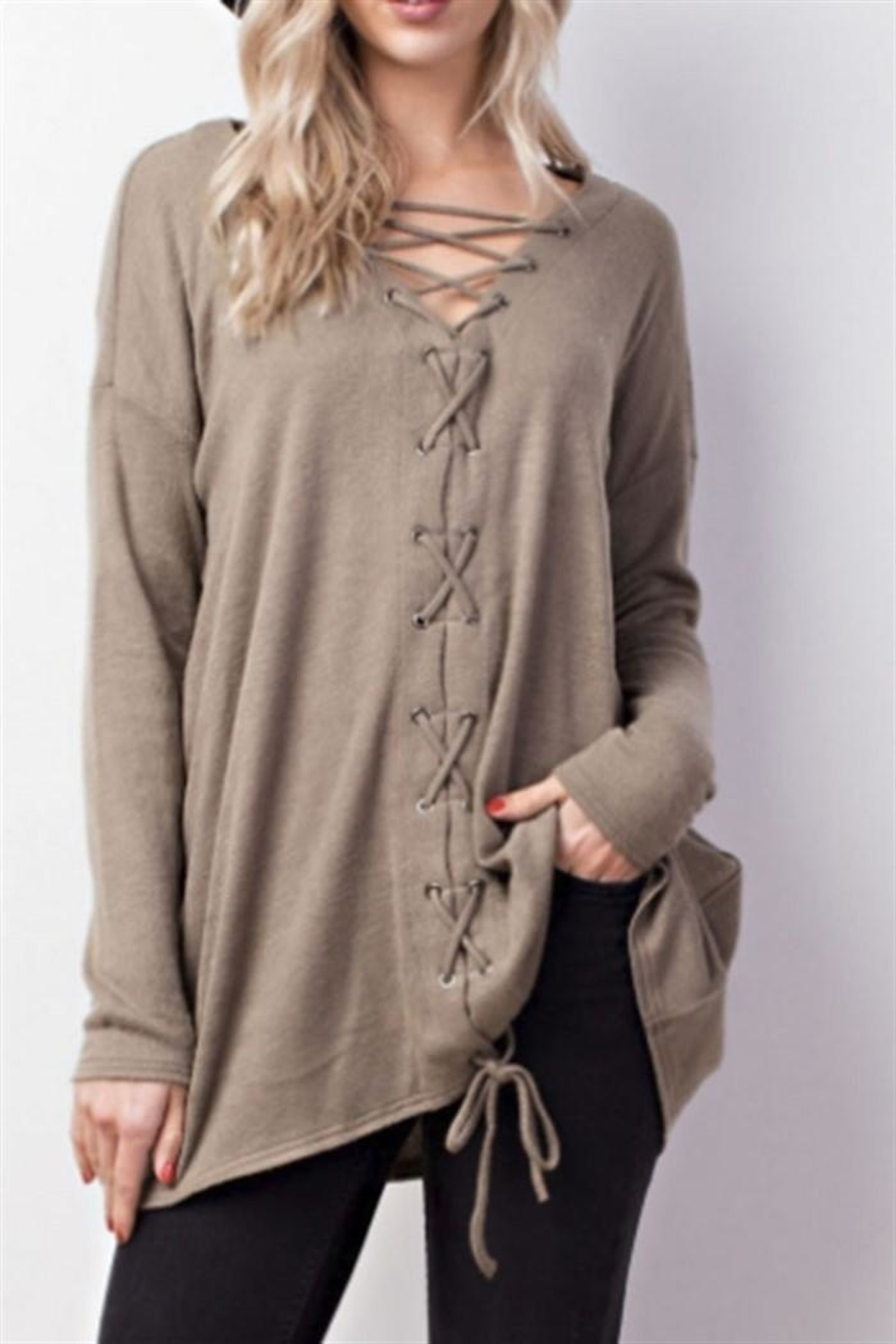 Mittoshop Lace Up Top - Main Image