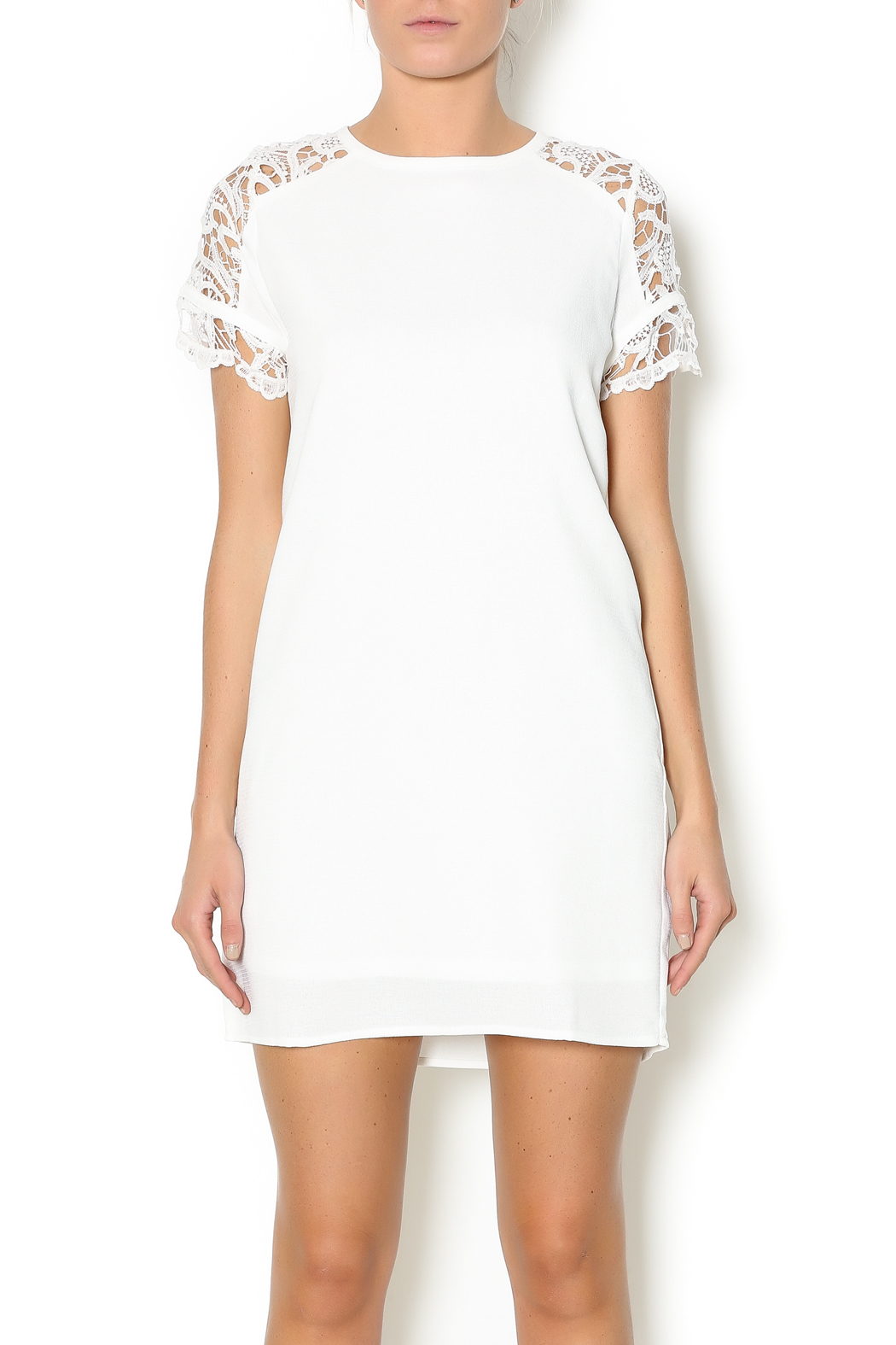 mittoshop laced shoulder dress from alabama by flaunt boutiq