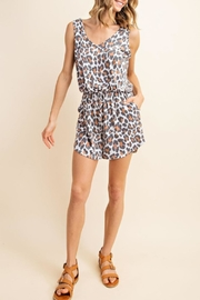 Mittoshop Leopard Casual Romper - Front cropped