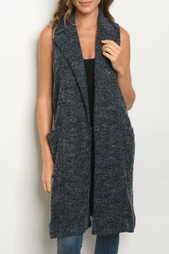 Mittoshop Long Navy Cardigan - Product List Image
