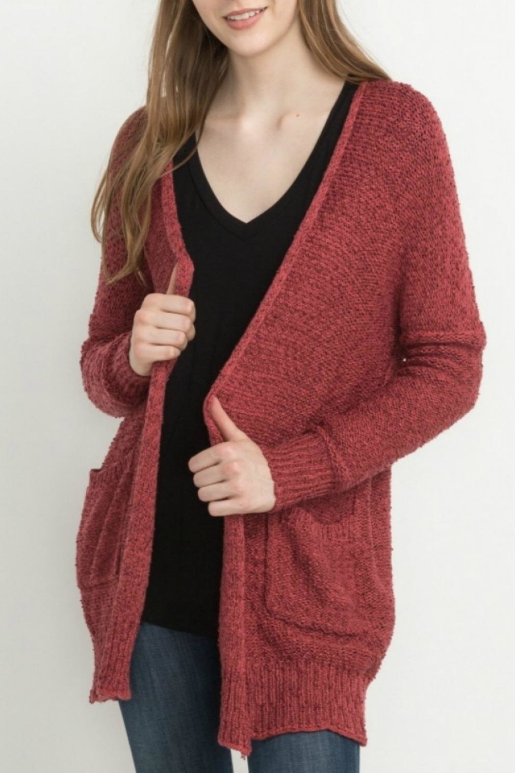 Mittoshop Maddies Chunky Cardigan - Front Cropped Image