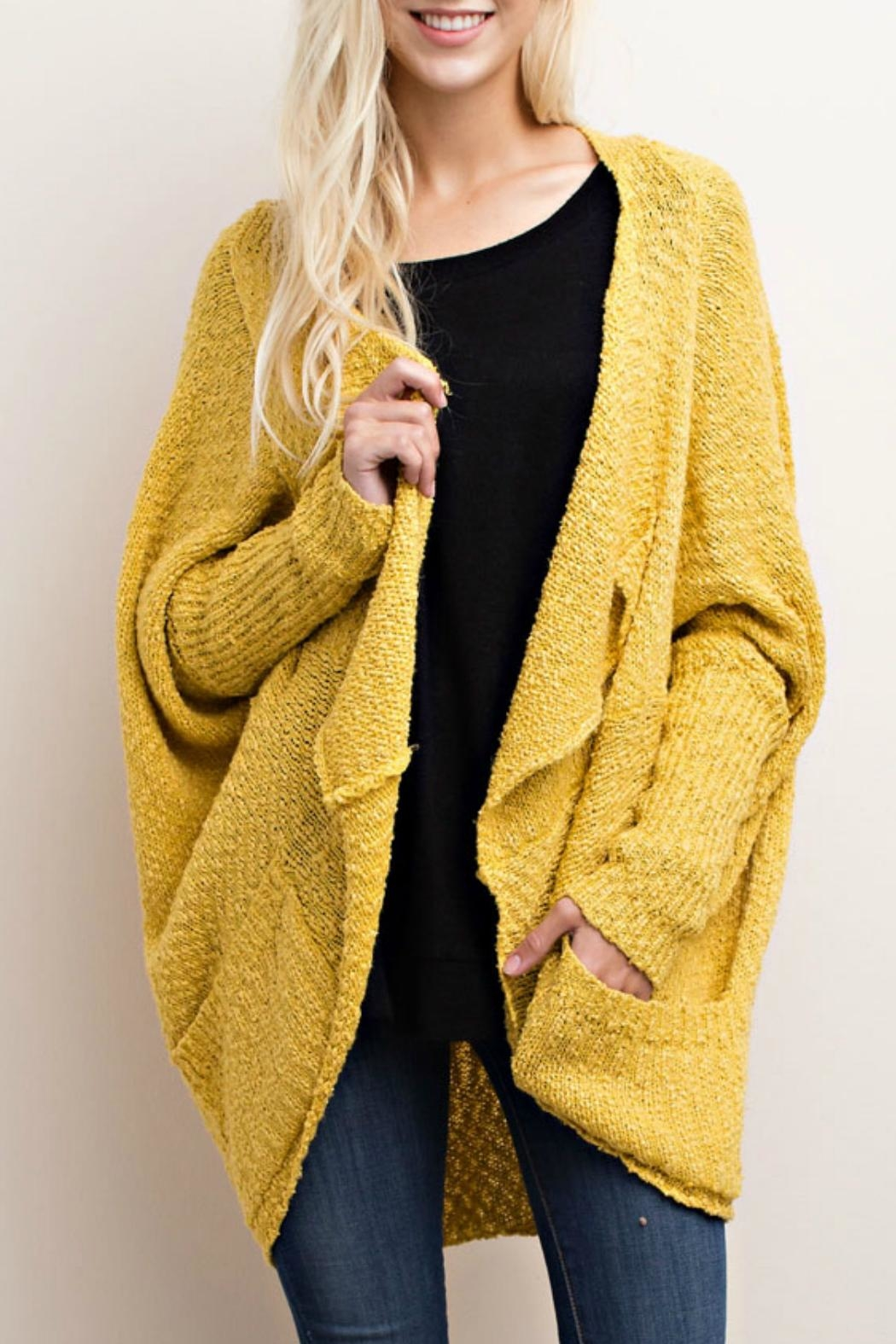 Mittoshop Mid-Length Dolman Cardigan - Front Cropped Image