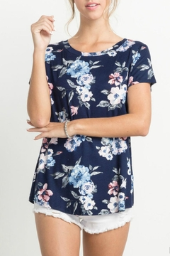 Shoptiques Product: Navy Floral Tee