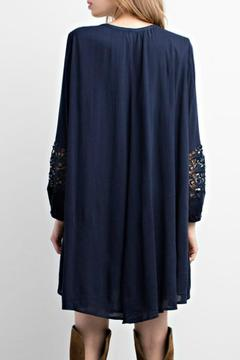 Mittoshop Navy Flowy Tunic - Alternate List Image