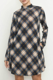Mittoshop Navy Plaid Dress - Product Mini Image