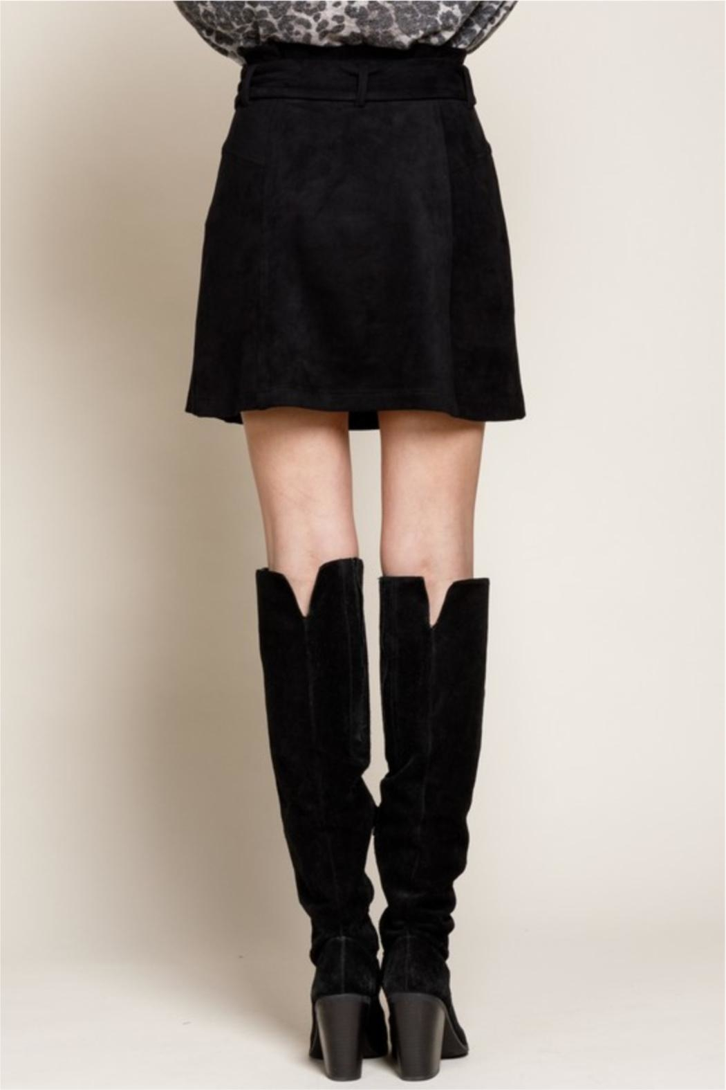 Mittoshop Nothing Better Than Suede Skirt - Back Cropped Image