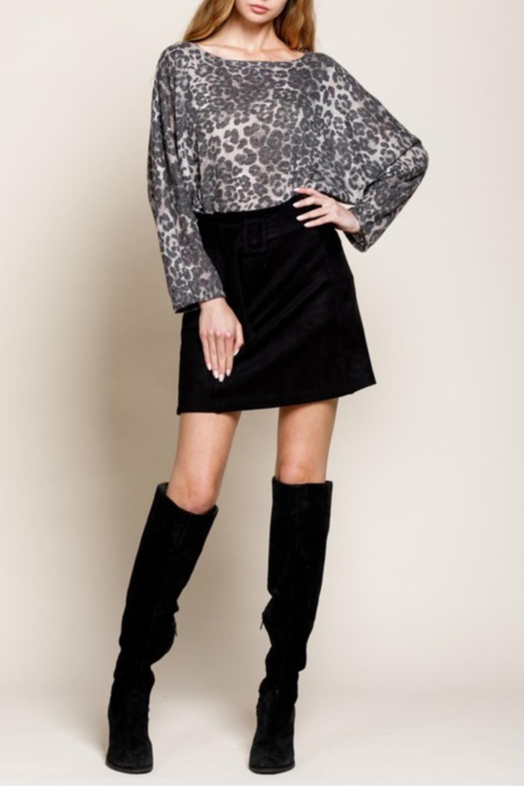 Mittoshop Nothing Better Than Suede Skirt - Front Cropped Image