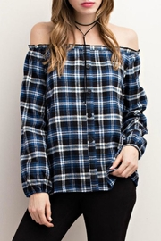 Mittoshop Off-Shoulder Plaid - Product Mini Image