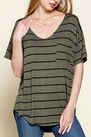 Mittoshop Olive Striped Tee - Product Mini Image