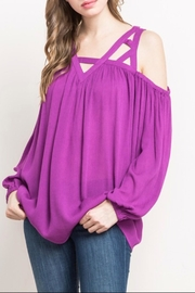 Mittoshop Open Shoulder Top - Product Mini Image