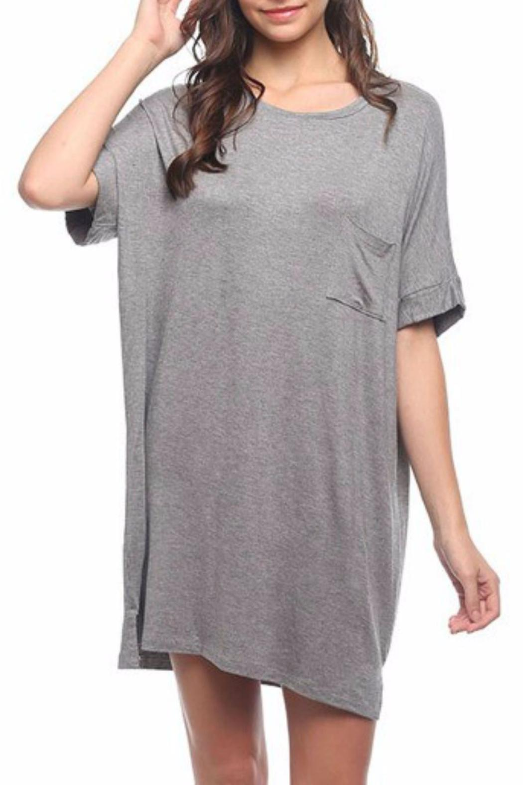 Mittoshop Over-Sized T-Shirt Dress - Front Full Image
