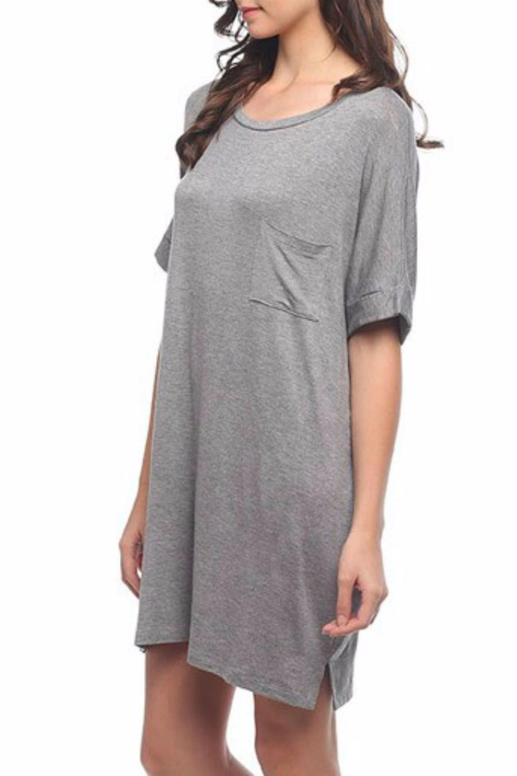 Mittoshop Over-Sized T-Shirt Dress - Side Cropped Image