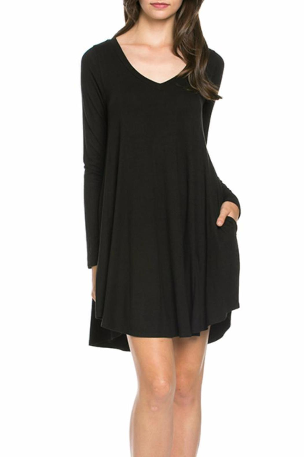 Mittoshop Perfect Pockets V-Neck Dress - Side Cropped Image