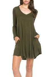 Mittoshop Perfect Pockets V-Neck Dress - Product Mini Image