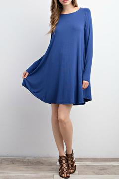 Shoptiques Product:  Crew Neck Pocket Dress