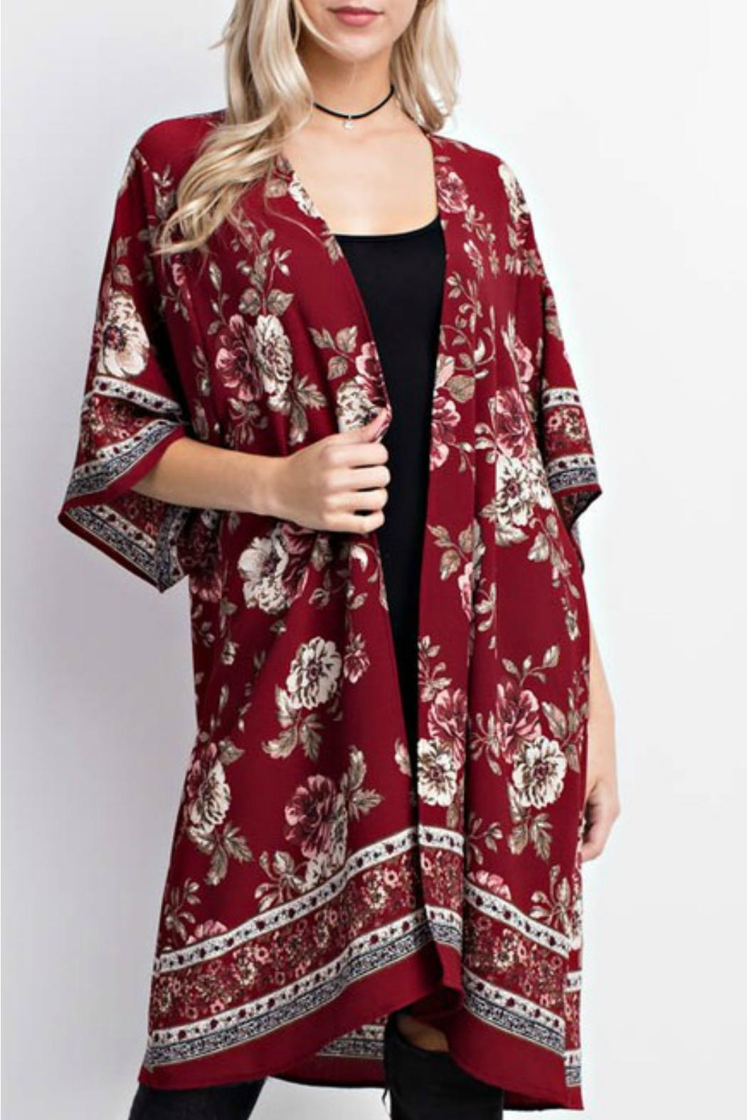 Mittoshop Red Floral Kimono from Tennessee by Terri Leigh's ...