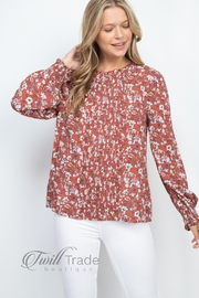 Mittoshop Rust Floral Top - Product Mini Image