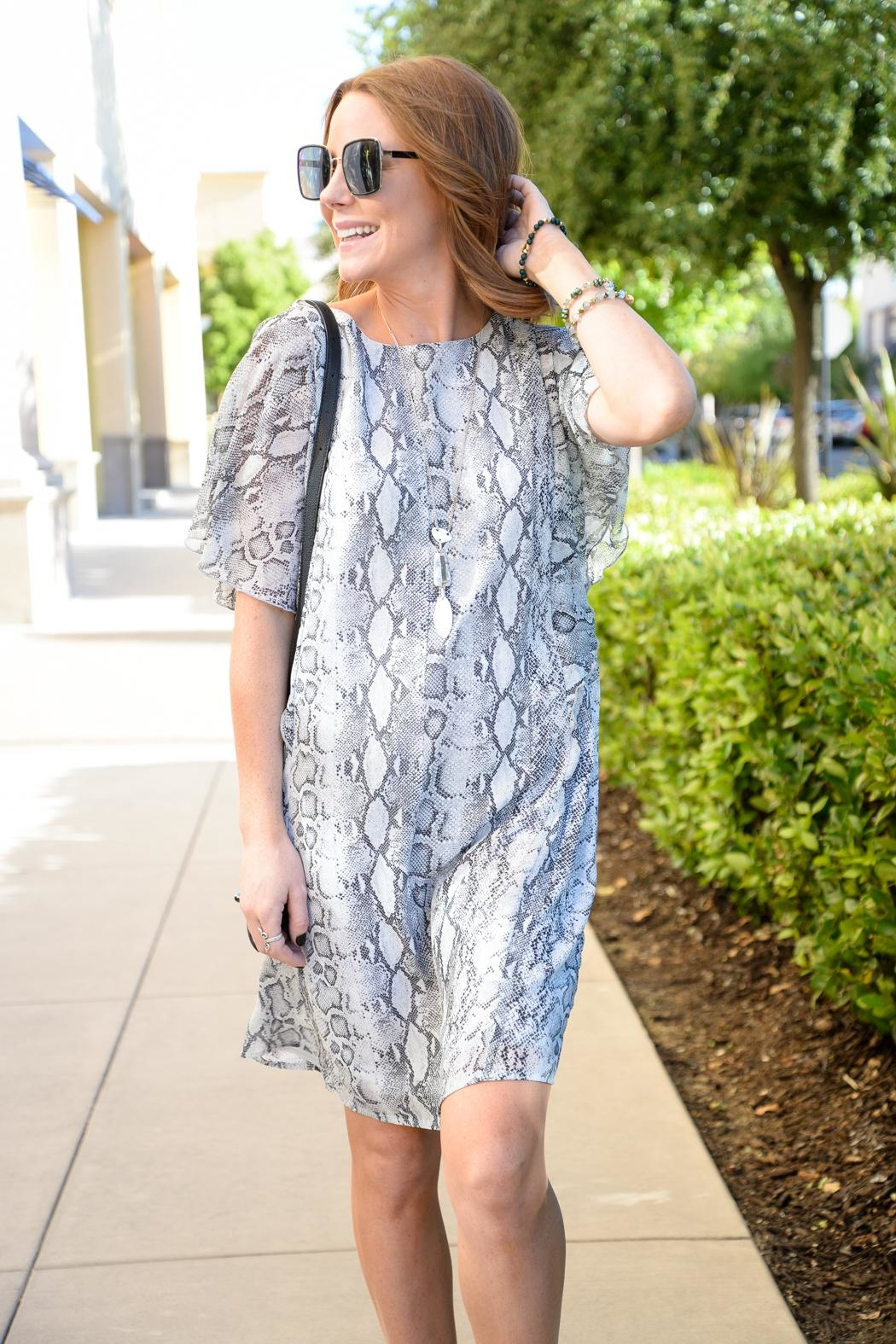 Mittoshop Silver Snake Dress - Front Full Image