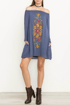 Shoptiques Product: Slate Embroidered Dress
