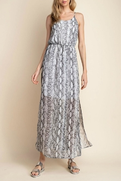 Mittoshop Snake-Print Side-Slit Maxi - Alternate List Image